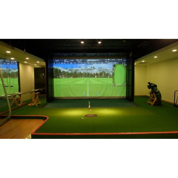 Phòng tập golf 3D-GC Quad- 165 Thái Hà- Cảm biến GC Quad- Phần mềm 80 sân- phần mềm phân tích Swing Catalyst- Cameras playback