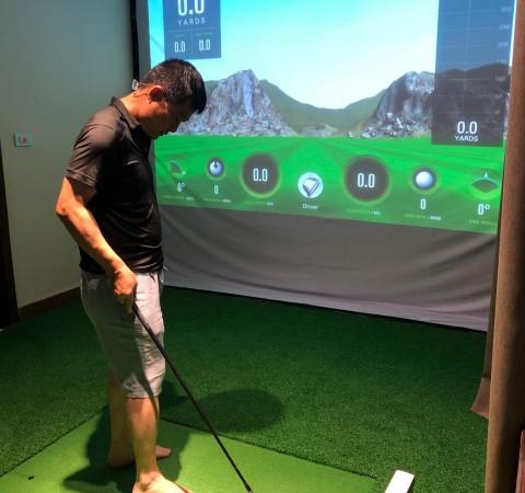 Phòng tập golf 3D- SKYTRAK- TIME CITY- HÀ NỘI,Cảm biến SKYTRAK Mỹ