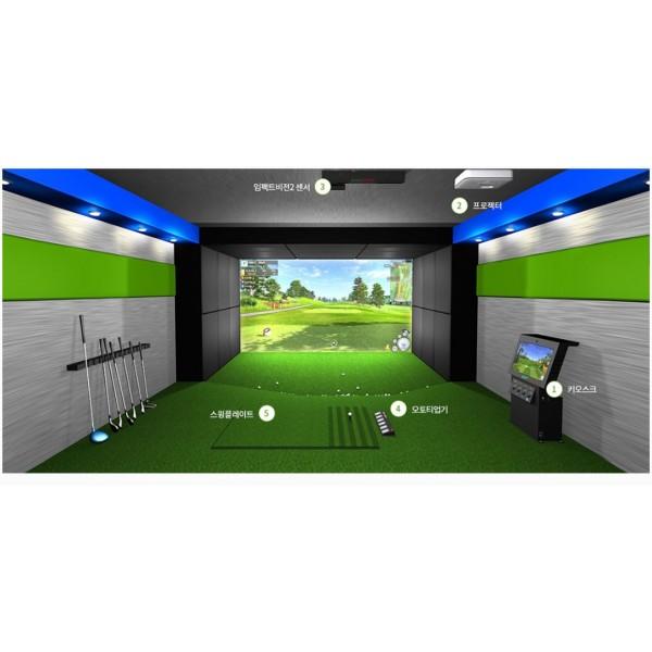 PHÒNG TẬP GOLF 3D- IMPACT VISON, cảm biến golf đã được thử nghiệm với công nghệ RADA, bao gồm sân golf Việt Nam
